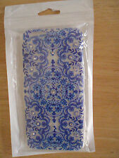 iPhone Case Cover for 6 & 6s - soft gel- blue marble design,fake rhinestones