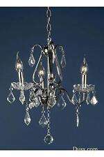 Dusx Vintage Stile Antico Cromato Argento Chiaro delle gocce 3 bracci lampadario luce