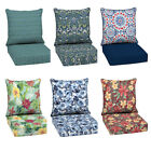 Outdoor Deep Seat Chair Patio Cushions Set Pad UV & Fade Resistant Furniture 24