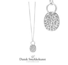 Dansk Smykkekunst,Silber Kette, S925 pl, Zirkonia, kurze o. lange Kette, 9H867