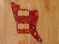 RED TORTOISE SHELL 4 PLY PICKGUARD FOR FENDER JAZZMASTER