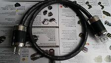 Silver Power Cord Cable US Rhodium Carbon Plug HI END 1.5M Furutech FP-314Ag