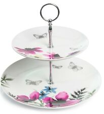 2 Tier Vintage Style Floral Themed Cake Stand Wedding Cupcake Stand
