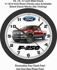 2019 Ford F-250 Pickup truck Wall Clock-Other Colors Available & Free US Ship
