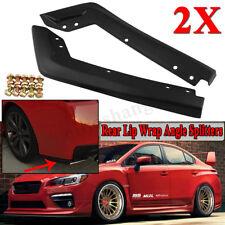 Black Rear Bumper Lip Wrap Angle Splitters For 2015-2016 Subaru Impreza WRX Sti