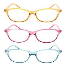 3 Pack Reading Glasses Translucent Lightweight Readers for Women
