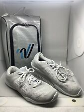 V-Force Varsity Cheer Shoes Silver/White Womens 9 LN With Case Cheerleading