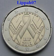 Frankrijk speciale 2 euro 2014 Wereld Aids Dag UNC