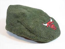 Chicago Bulls Bud Light Green Black Herringbone Tweed berret flat Cabbie Cap Hat