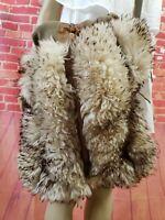Dino Ricco Lamb Fur Large BOHO Hippie Bag Festival Unique Design Vintage 80's