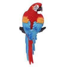 Life Size Colorful Parrot Sculpture Modern Yard Garden Zoo Ornament Decor