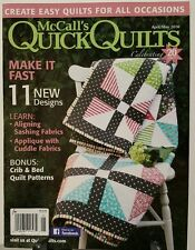 McCalls Quick Quilts New Designs Crib Bed Patterns Apr May 2016 FREE SHIPPING JB