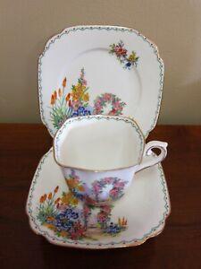 "Vintage Enghlish Made ""Standard China"" Garden Scene Trio."