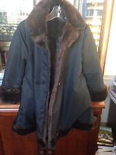 Helena coat black jacket w/ brown faux fur girls sz 6 Neimans REVERSIBLE dressy