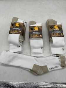 Carhartt All Season Cushion Steel Toe Cotton Irregular Work Boot Socks 6 pack
