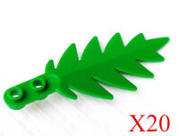 LEGO 50x NEW SMALL GREEN 8 X 3 Palm Leaves LOT Leaf Plants Tree Pieces Forest
