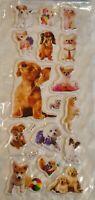 Puffy Dog Puppy Sticker Sheet 3D Raised Stickers Craft Scrapbook Chihuahua etc