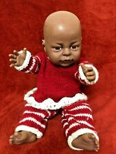Peterkin Black Skin Doll Baby Girl Anatomically Correct 16""