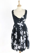 Vivienne Westwood Anglomania Womens Black Raw Hemmed Dress Size 46 (Uk 14)