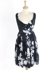 Vivienne Westwood Anglomania pour femme noir brut ourlés robe taille 46 (UK 14)