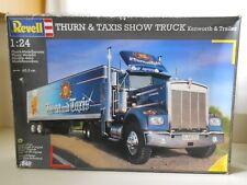 REVELL A.G. - KENWORTH SEMI & TRAILER - THURN & TAXIS SHOW TRUCK - MODEL KIT
