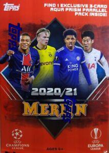 ⚽ 2021 Topps Merlin UEFA Champions Europa League Blaster 🔥 Aqua Prism 🔥 Sealed