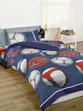 Football Single Duvet Cover  Bedding – Blue, Red and White (FREE P+P)