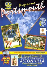 Portsmouth v Aston Villa programme, FA Cup 3rd Round, January 1998
