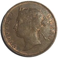 Straits Settlements, Victoria, 1 Cent Coin, 1897, Very Fine