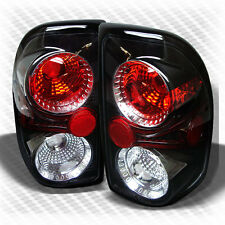For 1997-2004 Dodge Dakota Black Tail Lights Lamps Rear Brake Pair Left+Right