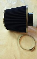 BLUE Universal Inlet Air Intake Cone Open Top Dry Replacement Filter