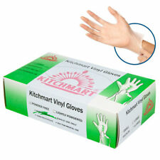 Box of 100 Disposable Clear Vinyl Gloves, Non-Sterile, Powder Free- Large