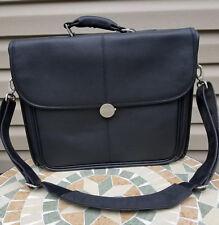 Dell Leather Laptop Messanger Bag, Briefcase - Black!