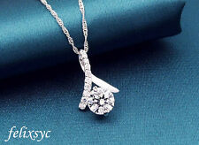 Dovetail Stunning Pendant 925 Sterling Silver Necklace Chain Jewelry Valentine's