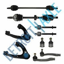 10pc Complete Suspension Kit +2 Front Axle Shafts for 1996-00 Honda Civic w/ ABS