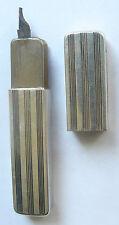 """Vintage Alpacca Lighter - Matchbox """"Permanent Match"""" Deutsche Reich Patent 143"""