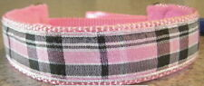PINK PLAID MARTINGALE COLLAR LEAD ITALIAN GREYHOUND Miniature Pinscher Maltese
