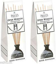 2x prix de la fenêtre ouverte reed diffuseur-élimine ménage odeurs-free p&p