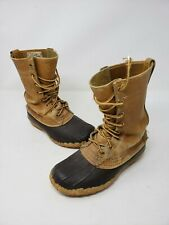 Vintage LL Bean Boots Duck Hunting Youth Kids 3 Leather Early 1950s Script Label