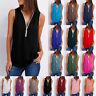 Women Summer Sleeveless V-Neck Long Blouse T-Shirt Vest Tank Tops Plus Size