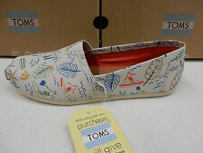 TOMS WOMENS CLASSIC GREY MULTI SURF CITY SIZE 10