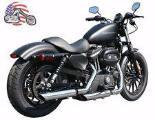 "Rush Chrome Slash Down 3"" Exhaust Slip On Mufflers 04-13 Harley Sportster 2.00"