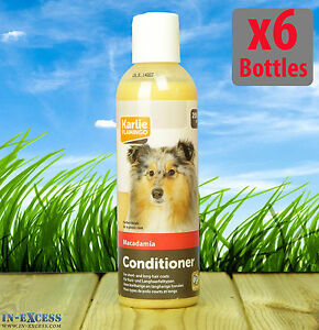 6 Bottles Of 200ml Karlie Flamingo Macadamia Dog K9 Grooming Conditioner 342