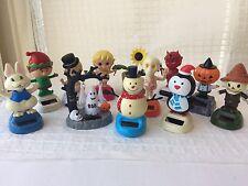 Solar Bobble Head Toys Lot
