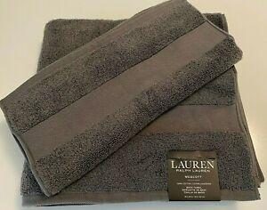 NWT RALPH LAUREN Towels Charcoal Gray Cotton Bath Hand Choose Set 100% Cotton