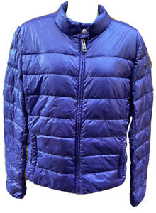 PRADA Women's Fthr & Down Puffer Jacket Nylon Purple Sz46/ UK14/ US12/AU12/JP13