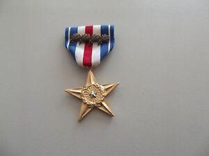 (A19-012) US Orden Silver Star Medal Original 5 fache Verleihung