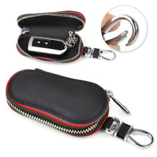 Car PU Remote Zipper Key Smart Holder Bags Storage Cases Cover Chain