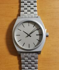 Nixon Time Teller Watch With 37mm Gray Face &  Silver Bracelet