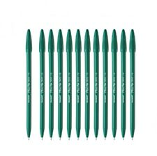 Monami Plus Pen 3000 Water-Based Marker Green Color Felt Tip Pen 0.4mm -12PCS
